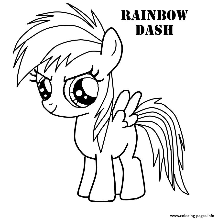 rainbow dash very cute magic coloring pages printable