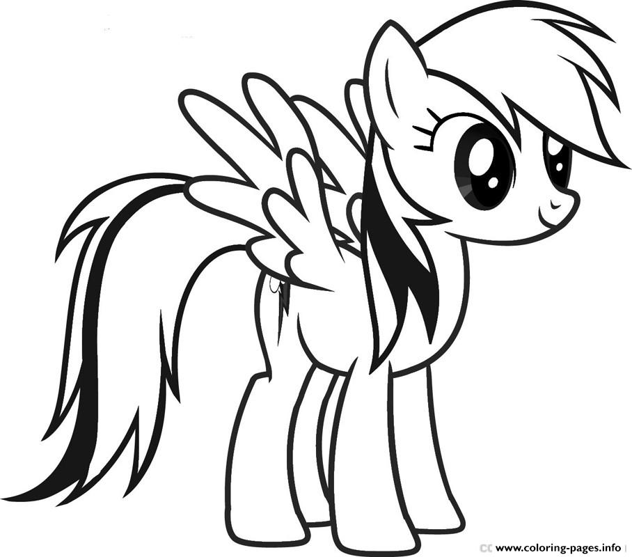 Rainbow Dash Cute Coloring Pages Printable