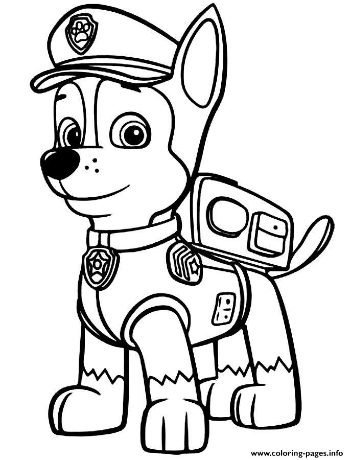 Paw Patrol Chase Police Man coloring pages