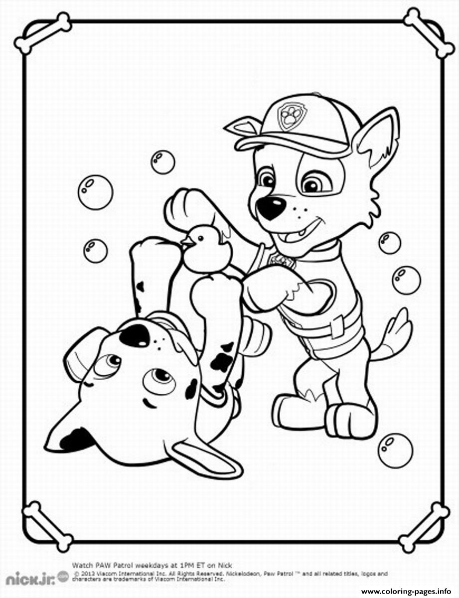 paw patrol rocky play coloring pages printable