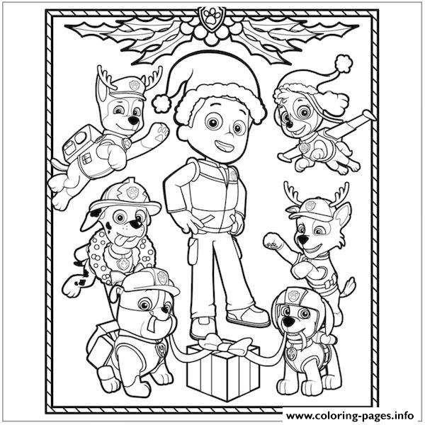 Paw Patrol Ryder Coloring Pages To Print : Paw patrol christmas ryder coloring pages printable