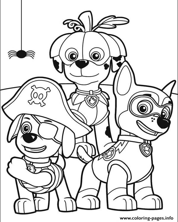 paw patrol halloween coloring pages - Haloween Coloring Pages