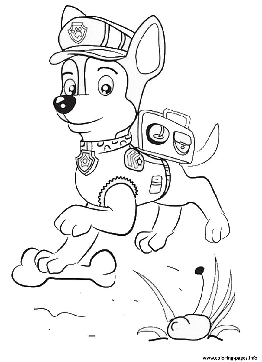 Paw Patrol Chase Jumping coloring pages