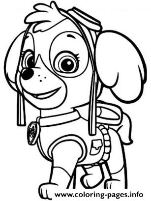 paw patrol skye ready coloring pages