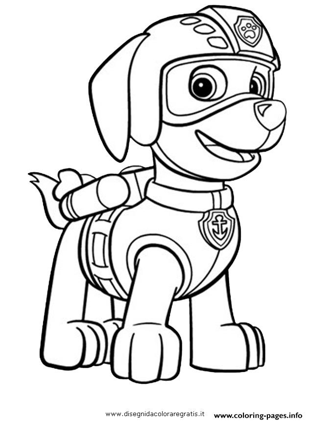 Paw Patrol Zuma Ready To Fly Coloring Pages