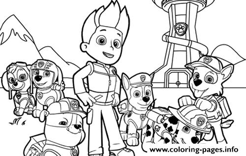graphic about Printable Paw Patrol Coloring Pages referred to as Paw Patrol Staff Coloring Web pages Printable