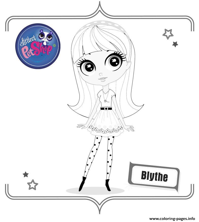 Blythe coloring pages