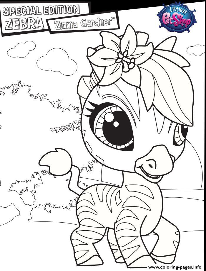 Special Edition Zebra Zinnia Gardner coloring pages