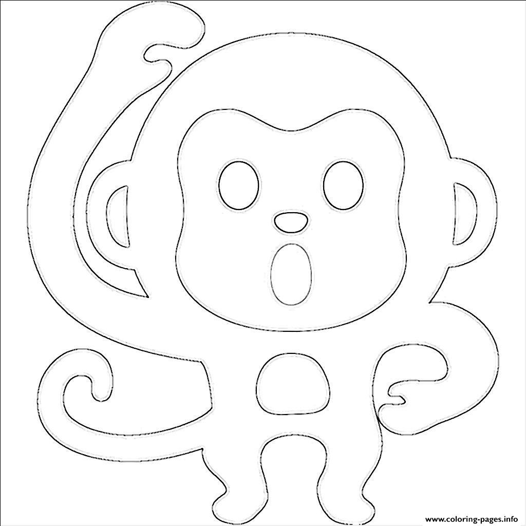 Emoji Monkey Emoticon Coloring Pages Printable