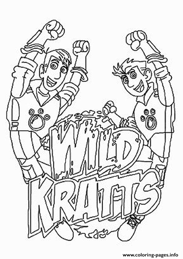 Print wild kratts The Logo Coloring pages Free Printable