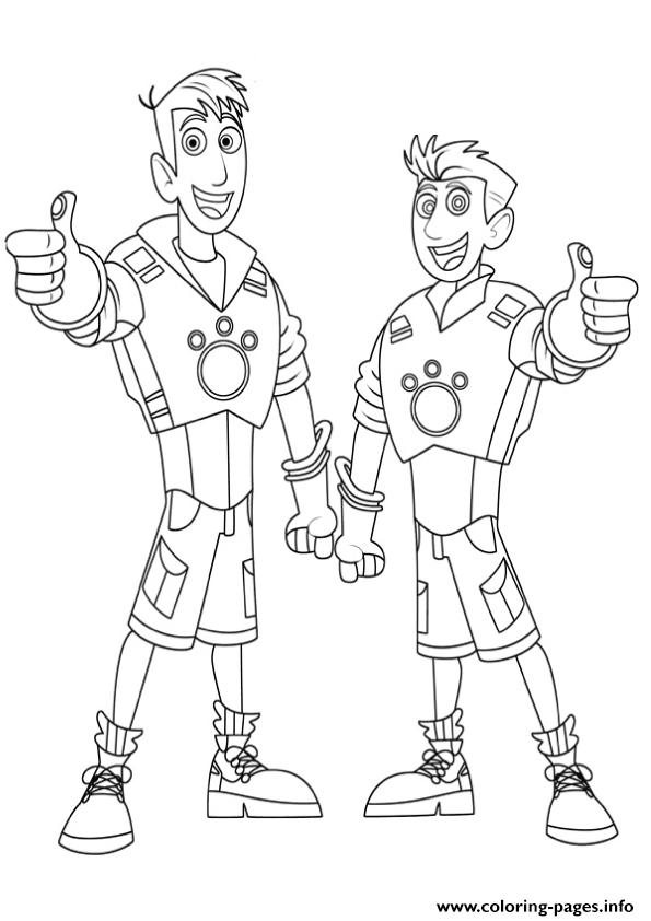 Wild Kratts Brother Coloring Pages Coloring Pages Printable