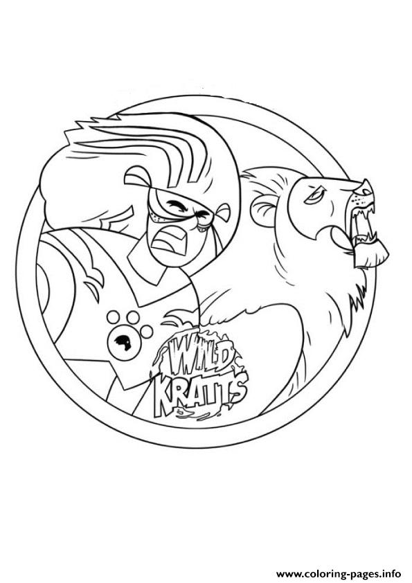 wild kratts printable coloring pages printable