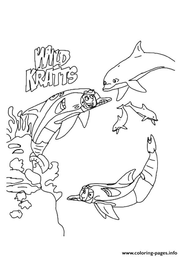 Wild Kratts The In Underwater Expedition Coloring Pages ...