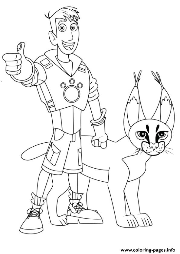 wild kratts martin and cougar coloring pages coloring