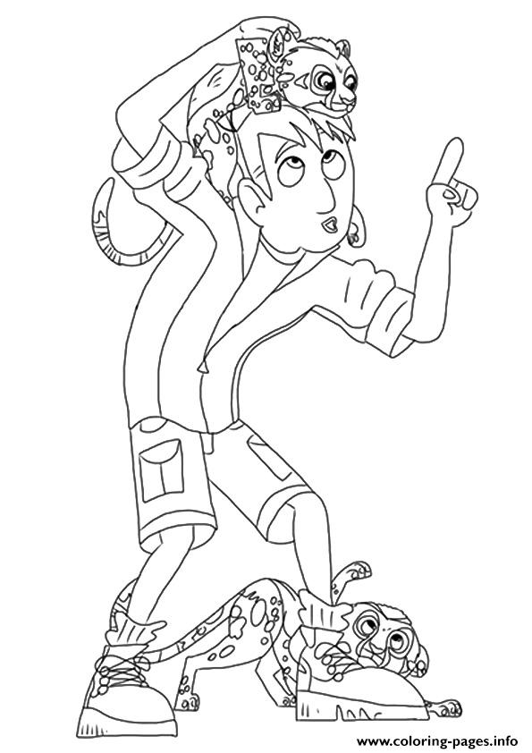 wild kratts the martin coloring pages printable