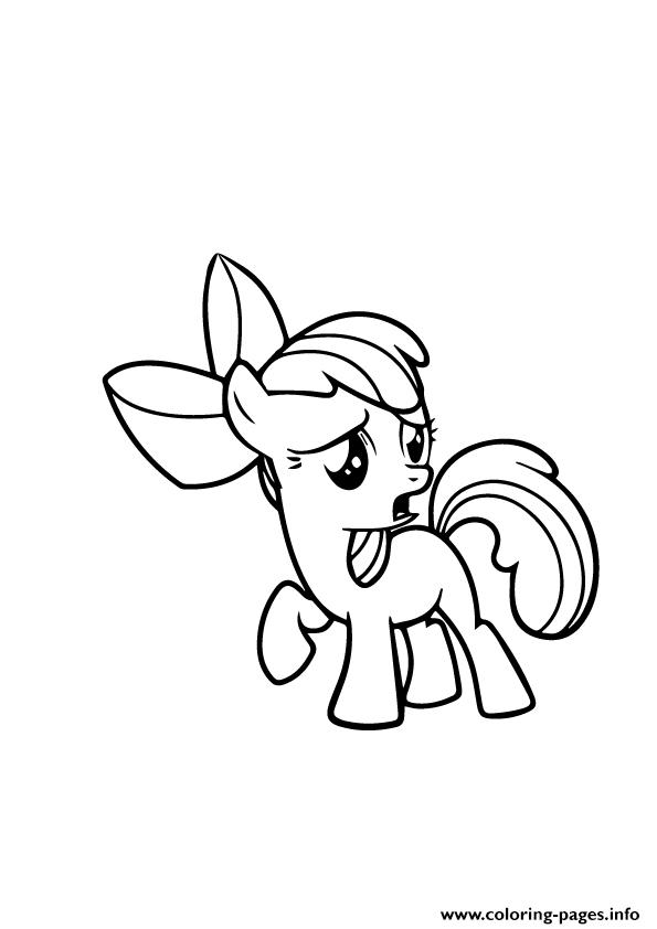 A Apple Bloom My Little Pony coloring pages
