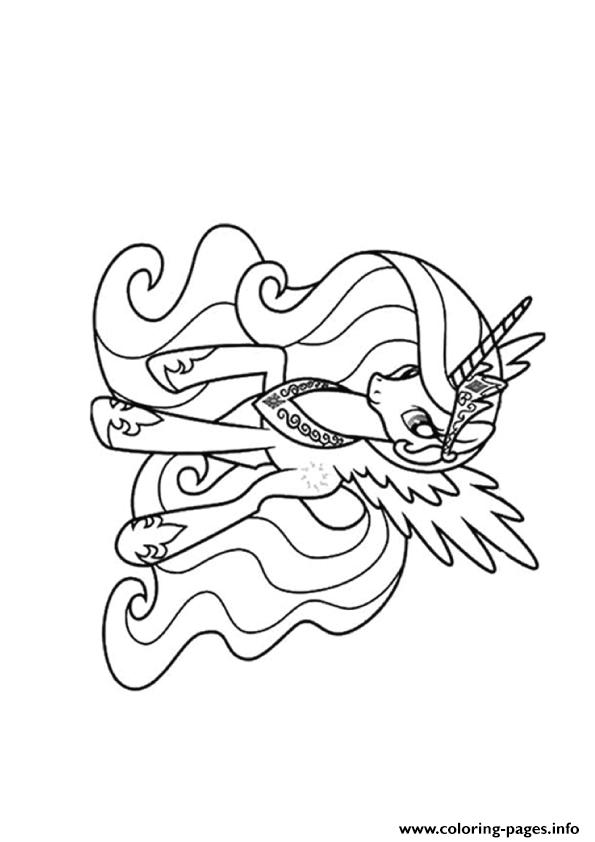 My Little Pony Coloring Pages Princess Celestia 24