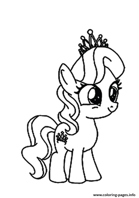 A Diamond Tiara My Little Pony Coloring Pages Printable