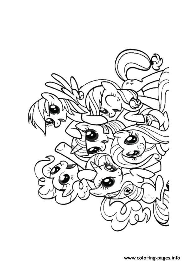 A Friendship Is Magic My Little Pony Coloring Pages