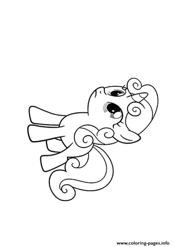 A Sweetie Belle My Little Pony Coloring Pages