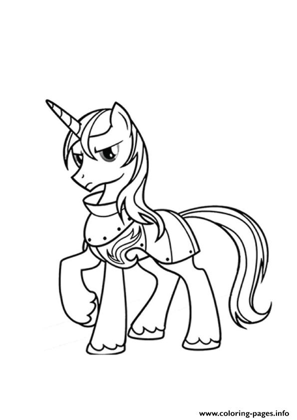 A Shining Armor My Little Pony Coloring Pages
