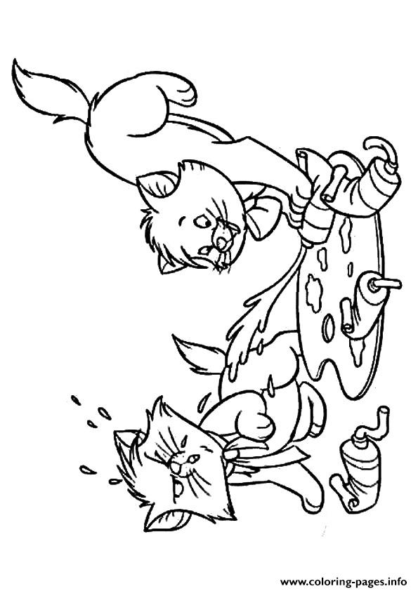 The Berlioz Kitten coloring pages