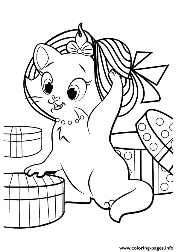 The Marie Kitten Coloring Pages Printable