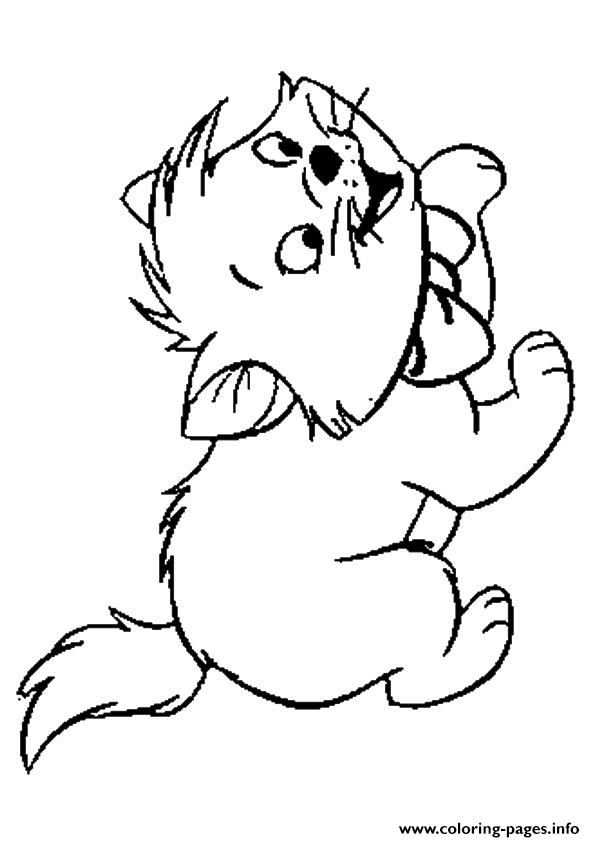 The Toulouse Kitten Coloring Pages