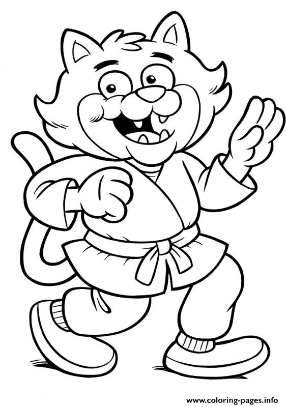 Karate Cat F7d5 Coloring Pages Print Download 318 Prints