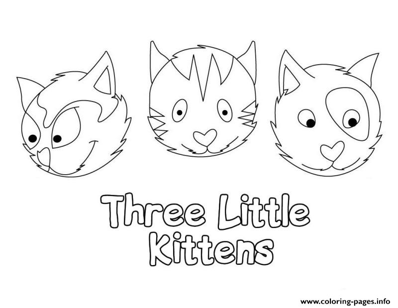 cute baby cat for preschool children coloring pages