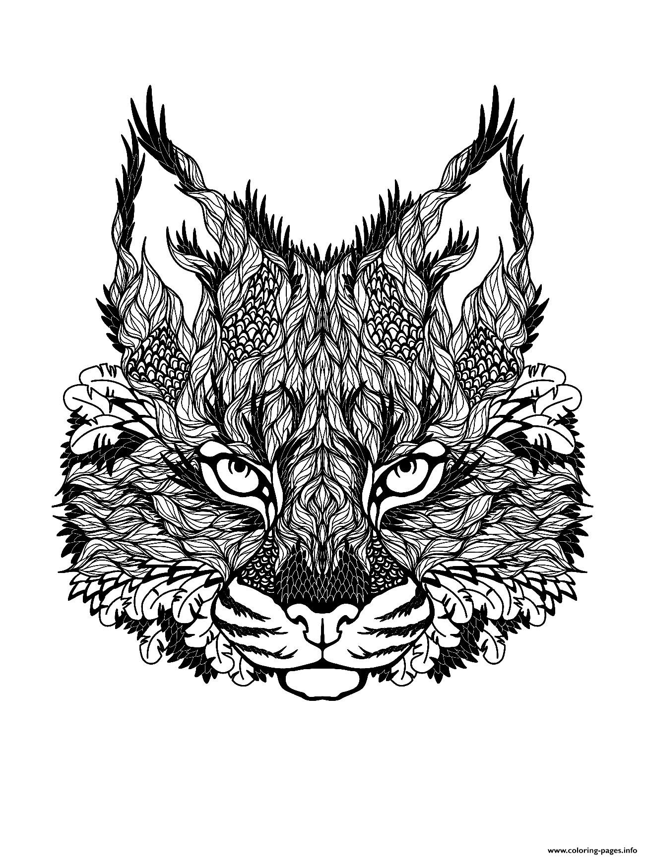 Kitten Difficult Cat Coloring Pages