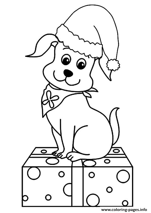 The Christmas Pup Puppy Coloring Pages Printable