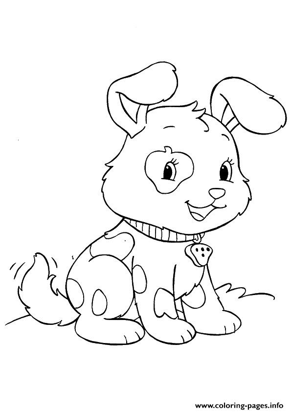 The Spotted Pup puppy Coloring pages Printable