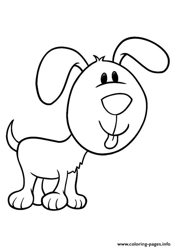 The Pup With A Large Face puppy Coloring pages Printable
