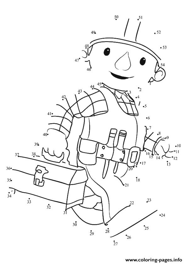 The Bob Builder Dot To Coloring Pages Print Download 334 Prints