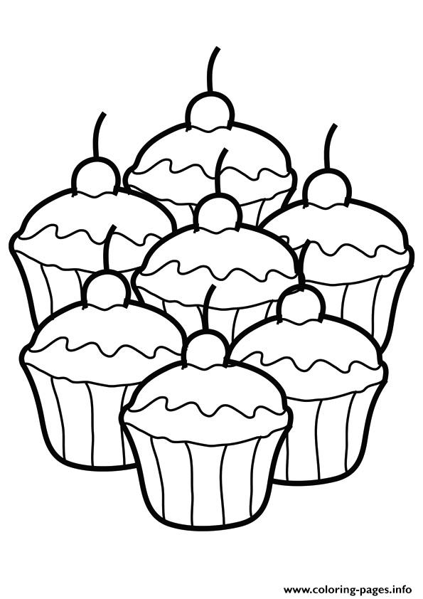 The way too many cupcakes Coloring pages Printable