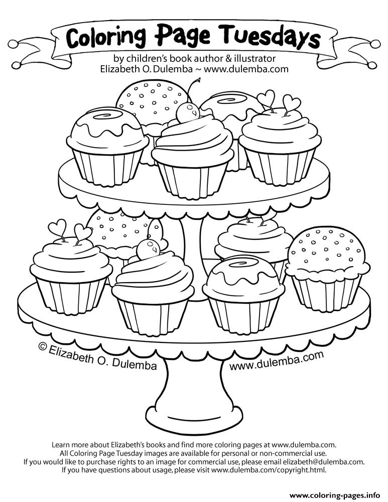 Cupcakess 125 coloring pages