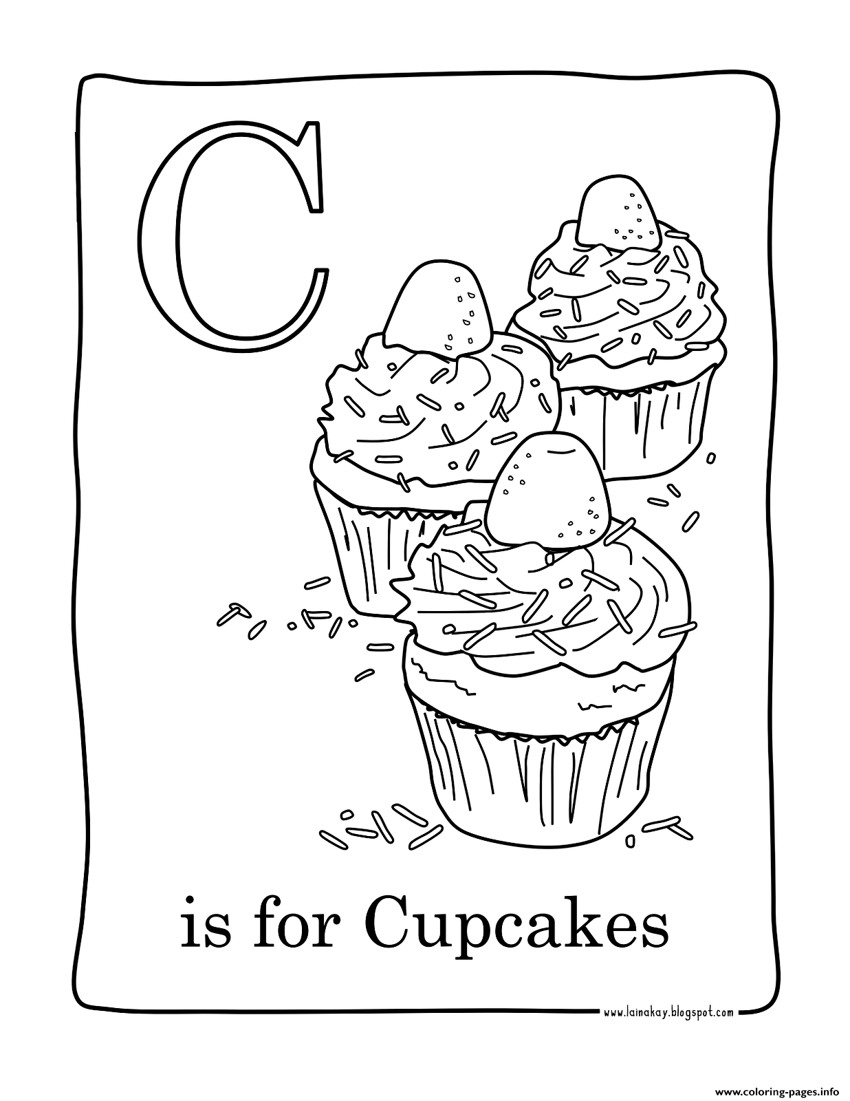 Facile Cupcakes coloring pages