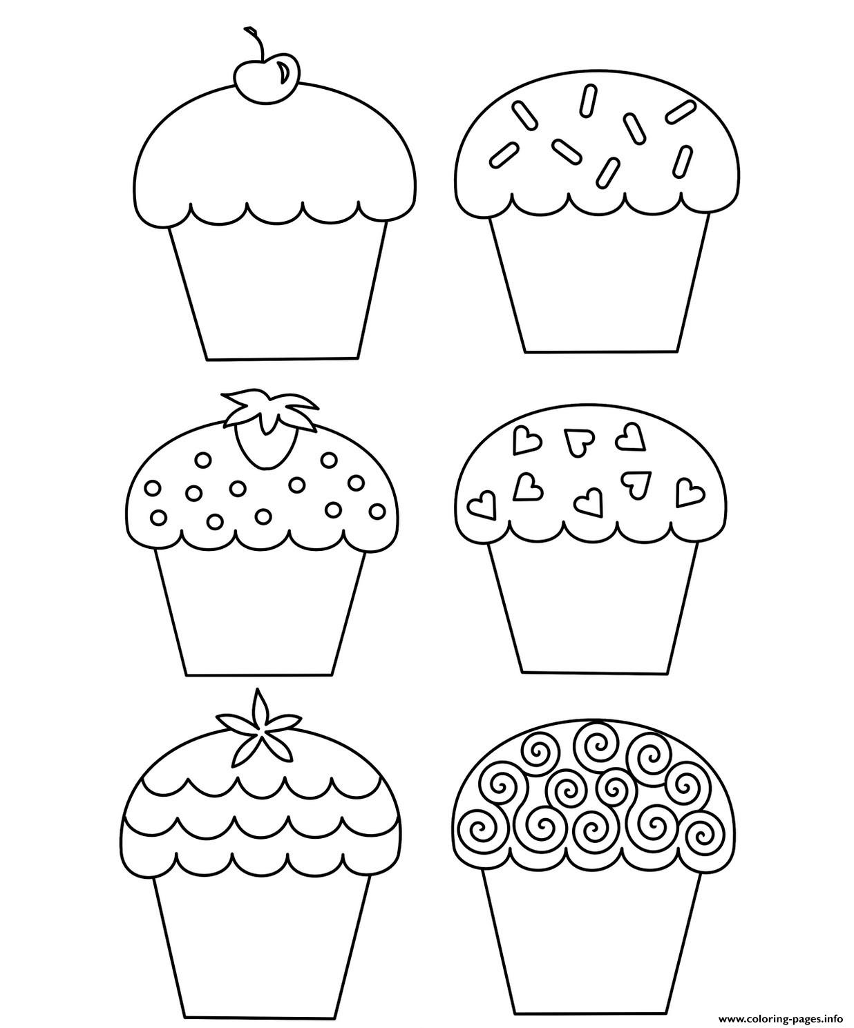 Sweet Cupcake B059 coloring pages