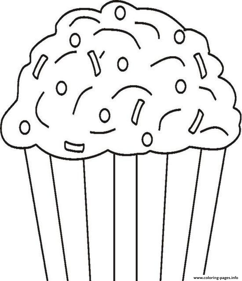 Kids Cupcake 2d01 Coloring Pages Printable