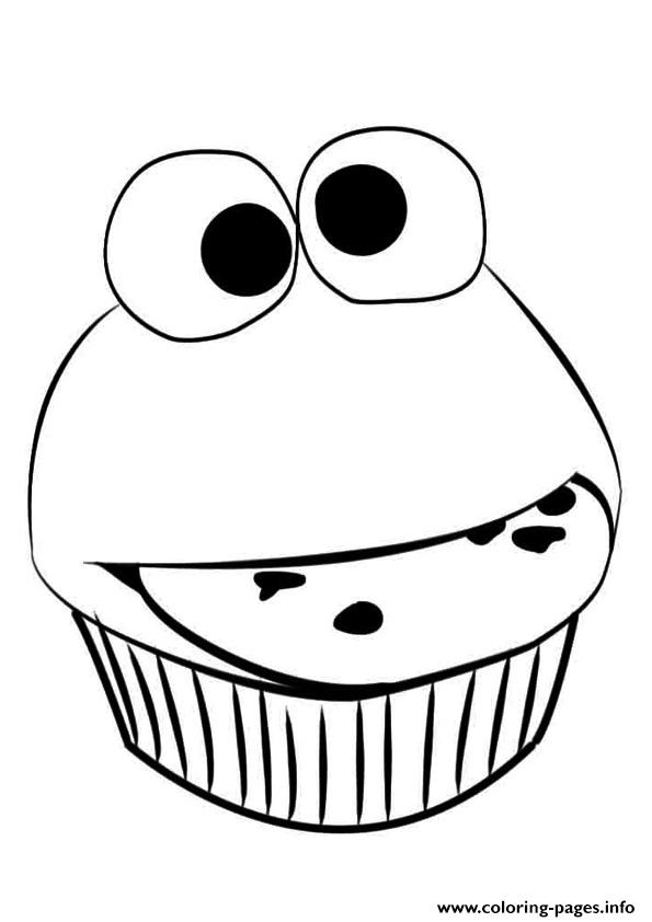 Funny Cupcake Coloring Pages Printable