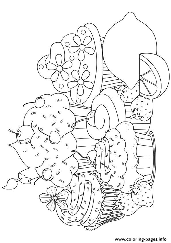 Cupcake13 coloring pages
