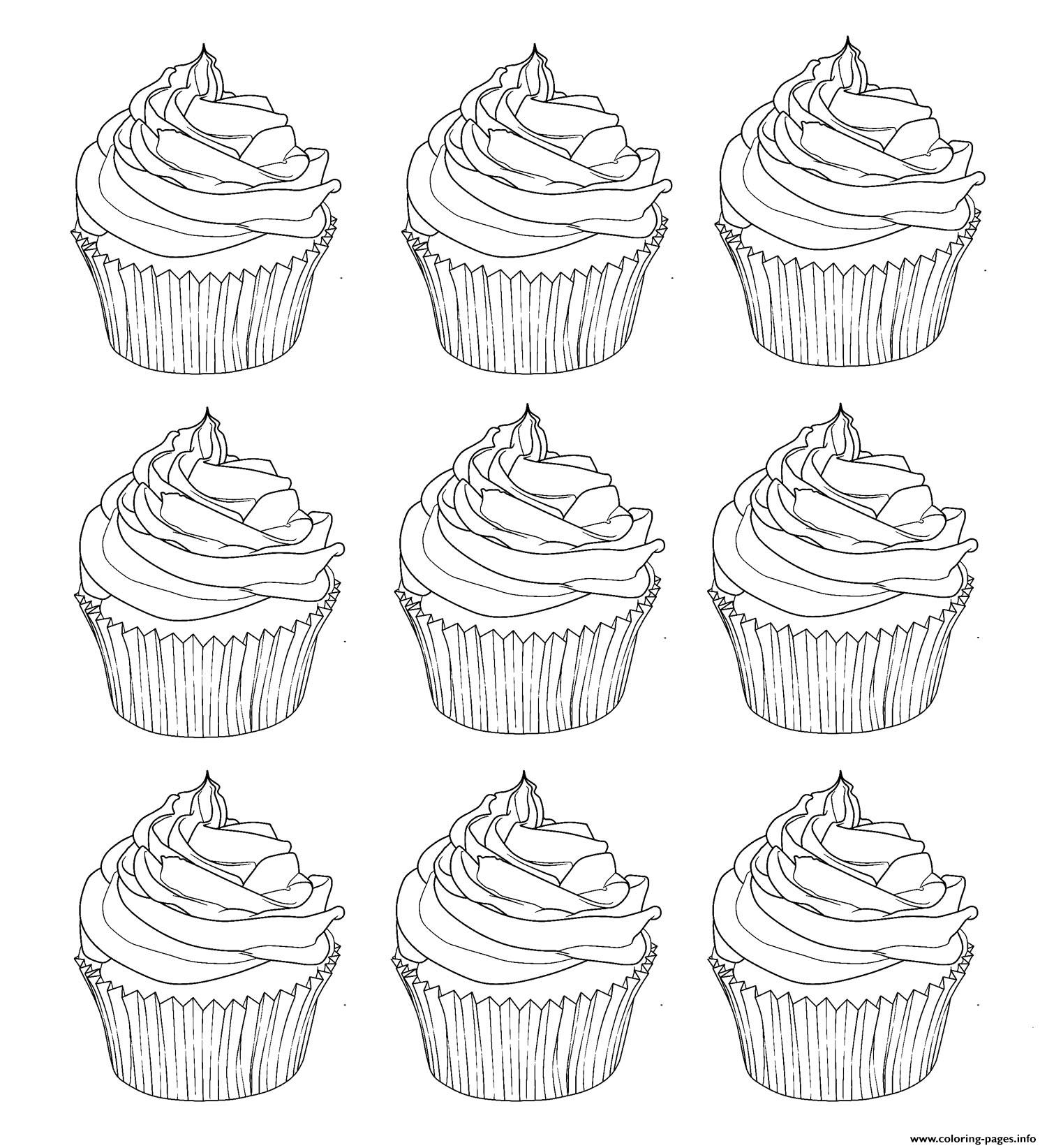 cupcakes warhol coloring pages printable