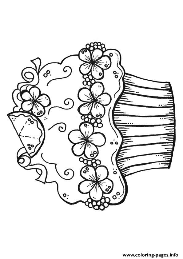 Decorative Cupcake coloring pages