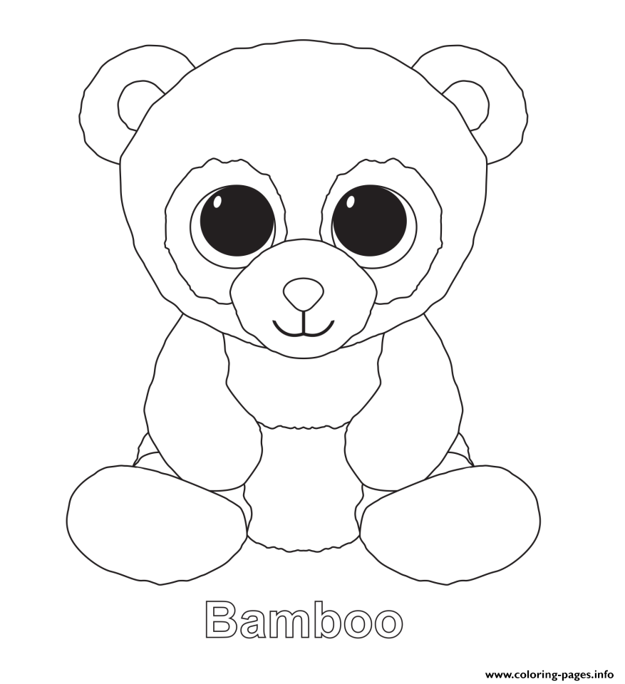 Bamboo Beanie Boo Coloring Pages Printable