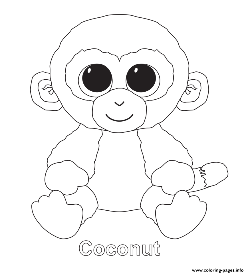 Coconut Beanie Boo Coloring Pages Printable
