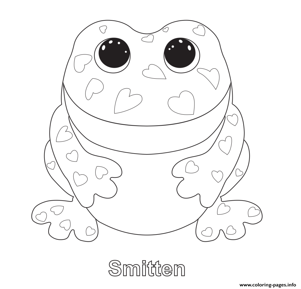 smitten beanie boo coloring pages printable