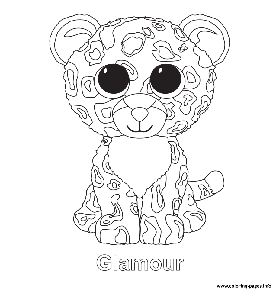 Glamour Beanie Boo Coloring Pages Printable