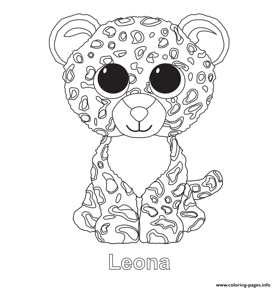 beanie boos coloring pages printable - leona beanie boo coloring pages printable