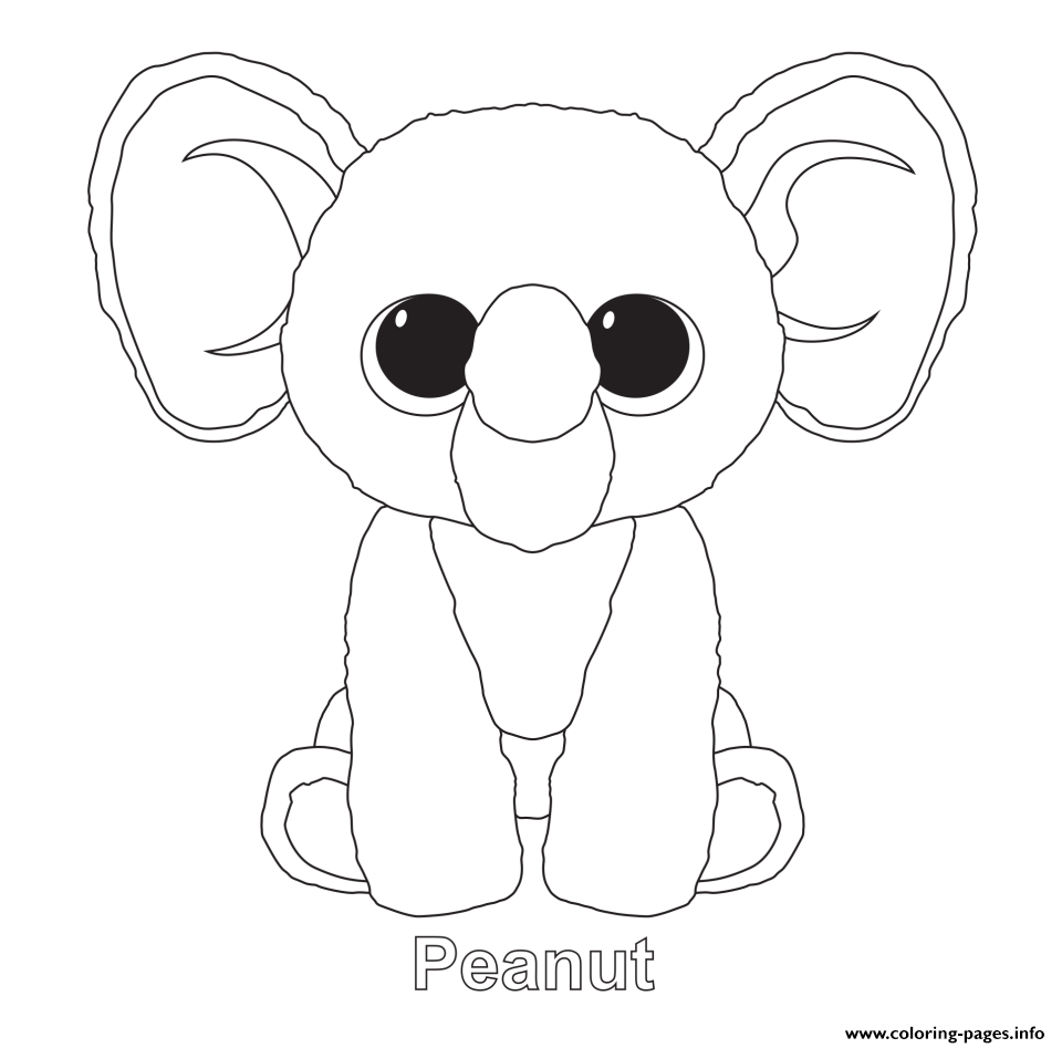 - Peanut Beanie Boo Coloring Pages Printable